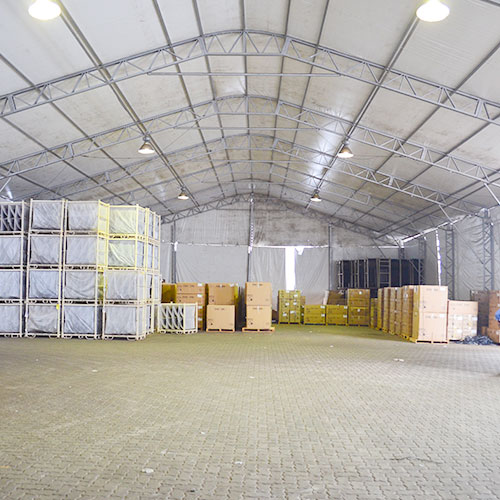 Empresa de aluguel de tendas para armazenagem